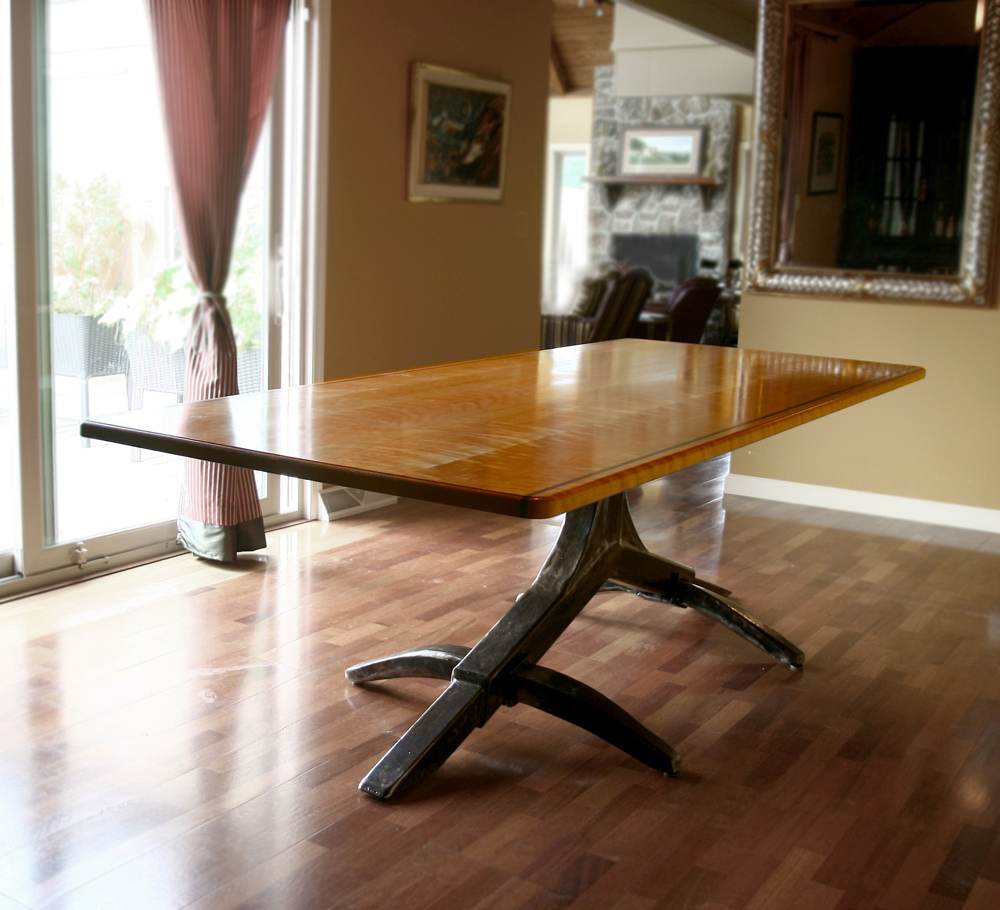 Iron dining room table